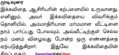 Samacheer Kalvi 10th English Solutions Poem Chapter 7 The House on Elm Street 12