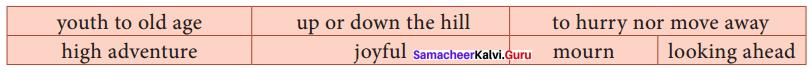 10th English Poem Samacheer Kalvi