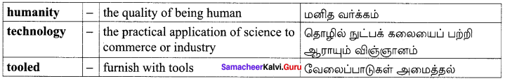 Samacheer Kalvi 10th English Solutions Poem Chapter 5 The Secret of the Machines 12