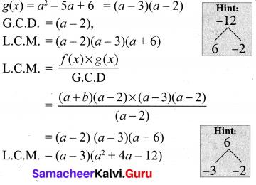 10th Maths Exercise 3.3 Samacheer Kalvi
