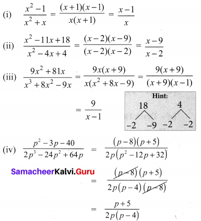 10th Maths 3.4 Exercise Samacheer Kalvi