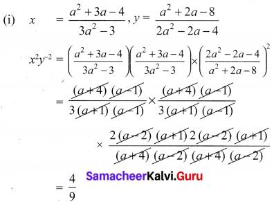10th Samacheer Kalvi Maths Algebra