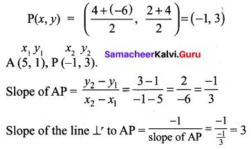 10th Coordinate Geometry 5.2 Samacheer Kalvi