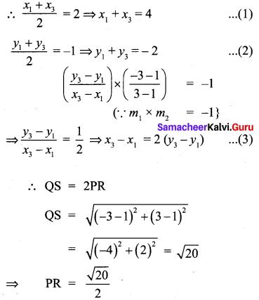 Coordinate Geometry Class 10 Chapter 5 Samacheer Kalvi