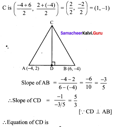 Coordinate Geometry Class 10 Samacheer