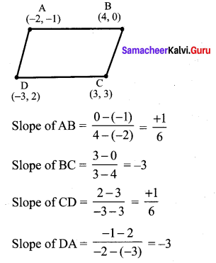 Samacheer Kalvi 10th Maths Chapter 5 Coordinate Geometry Unit Exercise 5 7