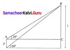 Ex 6.2 Class 10 Samacheer Kalvi Trigonometry