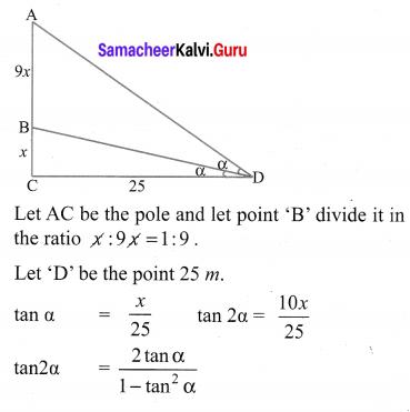Chapter 6 Maths Class 10 Exercise 6.2 Samacheer Kalvi Trigonometry
