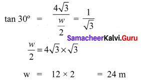 Exercise 6.2 Class 10 Samacheer Kalvi Trigonometry