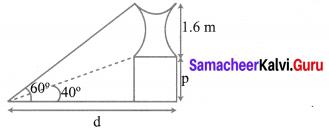 Class 10 Ex 6.2 Solutions Samacheer Kalvi Trigonometry