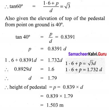 10th Math Exercise 6.2 Samacheer Kalvi Trigonometry