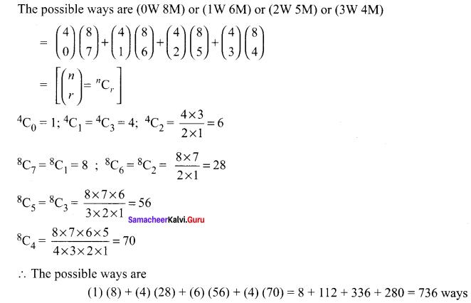Samacheer Kalvi 11th Maths Solutions Chapter 4 Combinatorics and Mathematical Induction Ex 4.3 54