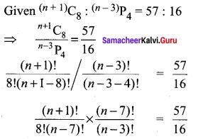 Samacheer Kalvi 11th Maths Solutions Chapter 4 Combinatorics and Mathematical Induction Ex 4.3 7