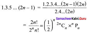 Samacheer Kalvi 11th Maths Solutions Chapter 4 Combinatorics and Mathematical Induction Ex 4.5 82