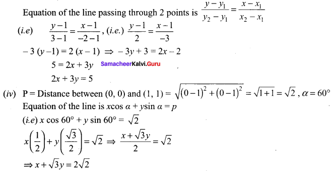 Samacheer Kalvi 11th Maths Solutions Chapter 6 Two Dimensional Analytical Geometry Ex 6.2 2