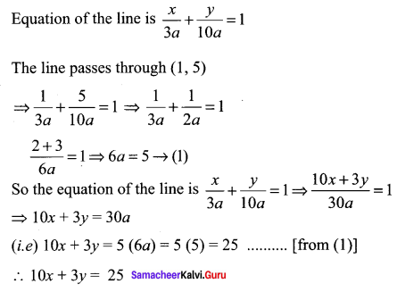 Samacheer Kalvi 11th Maths Solutions Chapter 6 Two Dimensional Analytical Geometry Ex 6.2 5