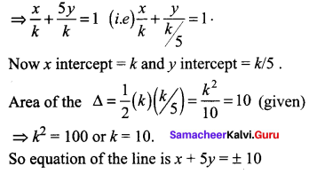 Samacheer Kalvi 11th Maths Solutions Chapter 6 Two Dimensional Analytical Geometry Ex 6.3 97