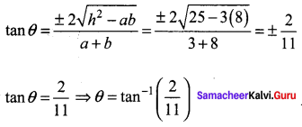 Samacheer Kalvi 11th Maths Solutions Chapter 6 Two Dimensional Analytical Geometry Ex 6.4 12