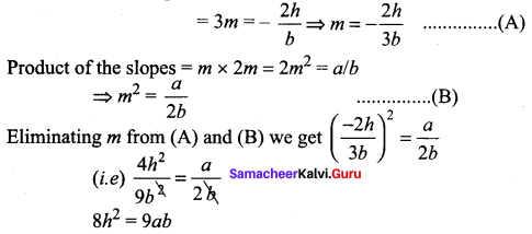Samacheer Kalvi 11th Maths Solutions Chapter 6 Two Dimensional Analytical Geometry Ex 6.4 40
