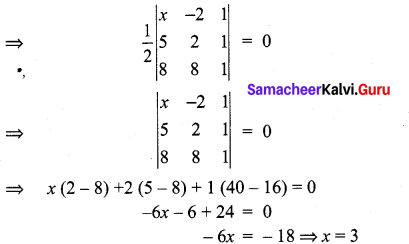 Samacheer Kalvi 11th Maths Solutions Chapter 7 Matrices and Determinants Ex 7.5 17