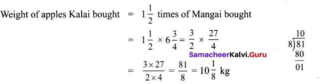 Samacheer Kalvi 6th Maths Solutions Term 3 Chapter 1 Fractions Ex 1.2 4