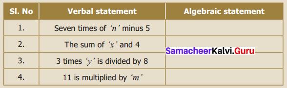 Samacheer Kalvi 6th Maths Term 1 Chapter 2 Introduction to Algebra Intext Questions Q5