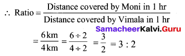 Samacheer Kalvi 6th Maths Term 1 Chapter 3 Ratio and Proportion Additional Questions 1 Q1