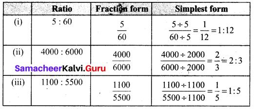 Samacheer Kalvi 6th Maths Term 1 Chapter 3 Ratio and Proportion Intext Questions 64 Q3.1