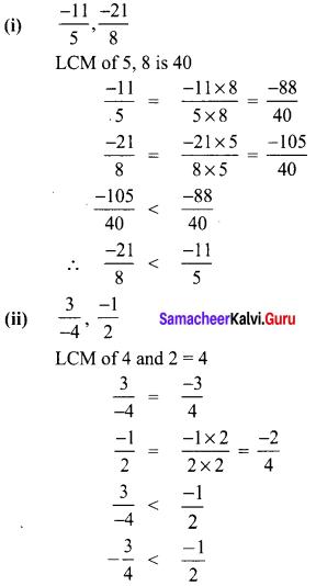 Samacheer Kalvi 8th Maths Term 1 Chapter 1 Rational Numbers Ex 1.1 22