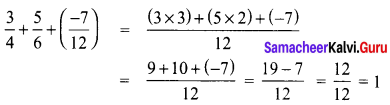 8th Maths Book Answer Samacheer Kalvi Chapter 1 Rational Numbers Ex 1.1 35