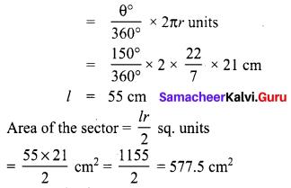 Samacheer Kalvi 8th Maths Term 1 Chapter 2 Measurements Additional Questions 2