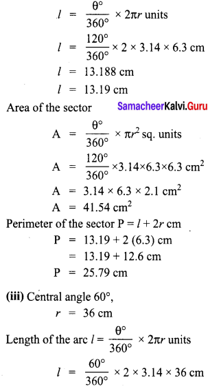 Exercise 2.1 Class 8 Chapter 2 Measurements Ex 2.1 Samacheer