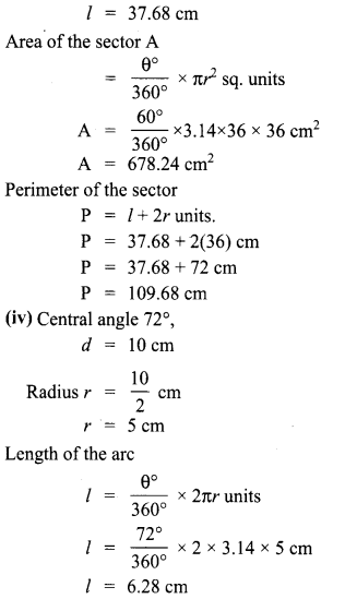 Samacheer Kalvi 8th Maths Solutions Term 1 Measurement