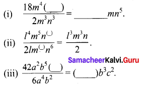 Samacheer Kalvi 8th Maths Term 1 Chapter 3 Algebra Ex 3.2 1