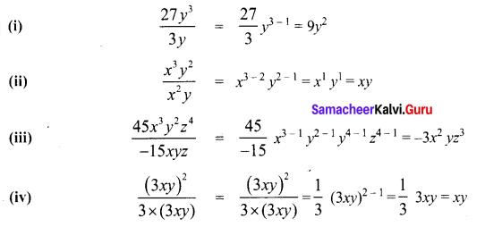 Samacheer Kalvi 8th Maths Term 1 Chapter 3 Algebra Ex 3.2 2