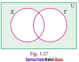 9th Maths Set Language Exercise 1.3 Samacheer Kalvi