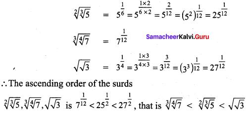 Class 9 Maths Ex 2.6 Solution Samacheer Kalvi Chapter 2 Real Numbers
