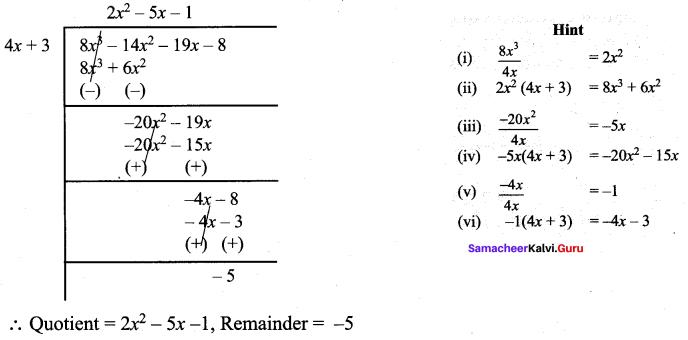 Samacheer Kalvi 9th Maths Chapter 3 Algebra Additional Questions 101