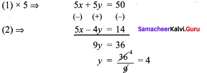Samacheer Kalvi 9th Maths Chapter 3 Algebra Ex 3.14 1