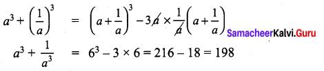 9th Maths Algebra Exercise 3.4 Samacheer Kalvi