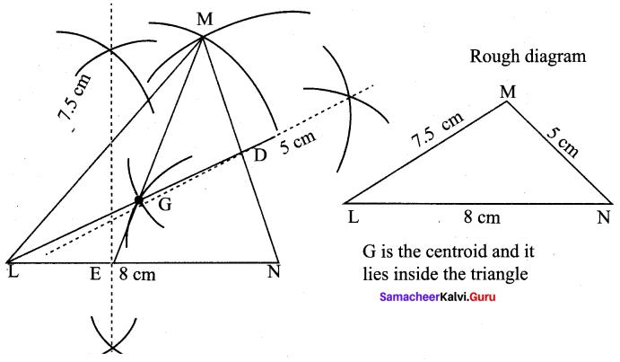 9th Maths Geometry Exercise 4.5 Samacheer Kalvi