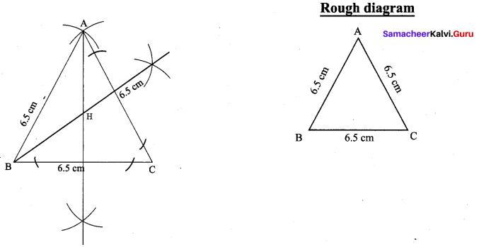 9th Maths Practical Geometry Samacheer Kalvi
