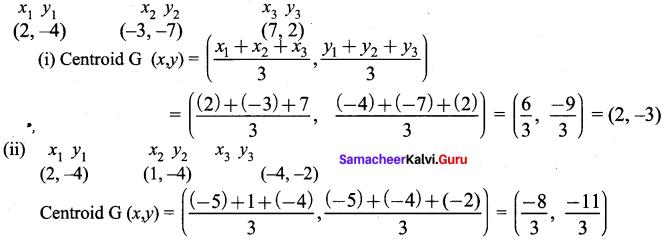 Samacheer Kalvi 9th Maths Chapter 5 Coordinate Geometry Ex 5.5 1