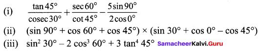 Samacheer Kalvi 9th Maths Chapter 6 Trigonometry Ex 6.2 6