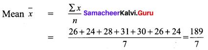 Samacheer Kalvi 9th Maths Chapter 8 Statistics Ex 8.1 1