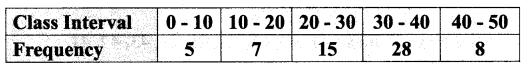 Samacheer Kalvi 9th Maths Chapter 8 Statistics Ex 8.1 11