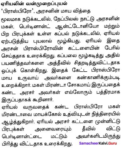 The Tempest Summary In Tamil Samacheer Kalvi