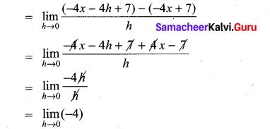 Samacheer Kalvi 11th Maths Solutions Chapter 10 Differentiability and Methods of Differentiation Ex 10.1 3