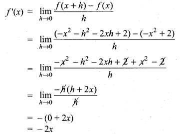 Samacheer Kalvi 11th Maths Solutions Chapter 10 Differentiability and Methods of Differentiation Ex 10.1 4