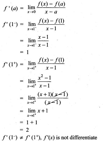 Samacheer Kalvi 11th Maths Solutions Chapter 10 Differentiability and Methods of Differentiation Ex 10.1 9
